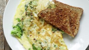 1200 Calorie High Protein Diet - broccoli omelet