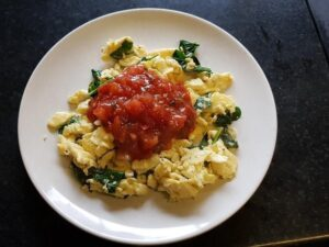 1300 Calorie Keto Meal Plan - spinach eggs