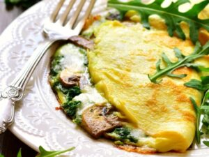 1300 Calorie Keto Meal Plan - spinach omelet