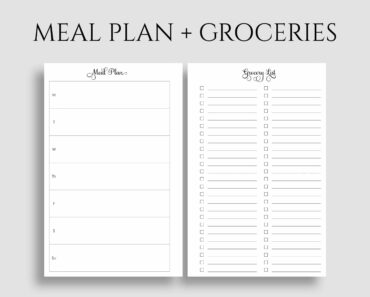 1500 calorie meal plan and grocery list