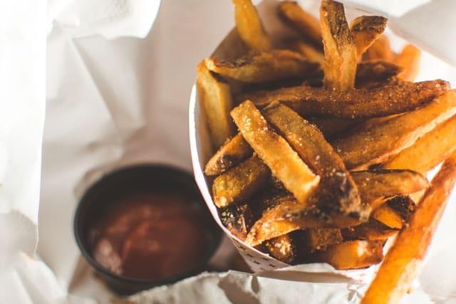 Crispy keto french fries