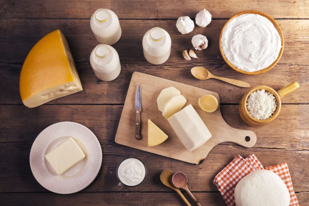 High Fat Low Carb Food List - Dairy Foods