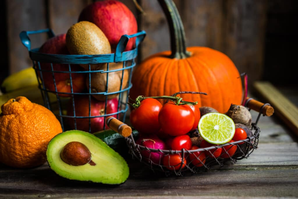High Fat Low Carb Food List - Fruits and Vegetables